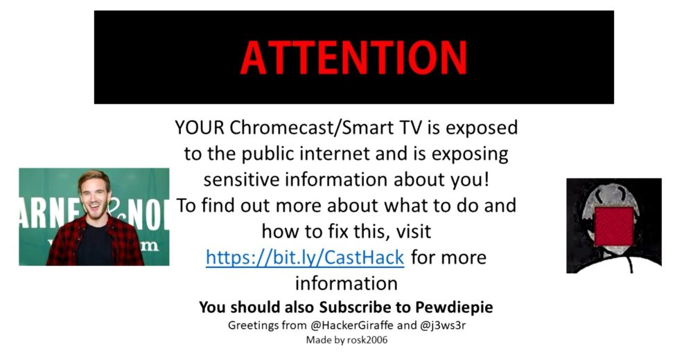 chromecast-hijack-to-promote-pewdiepie