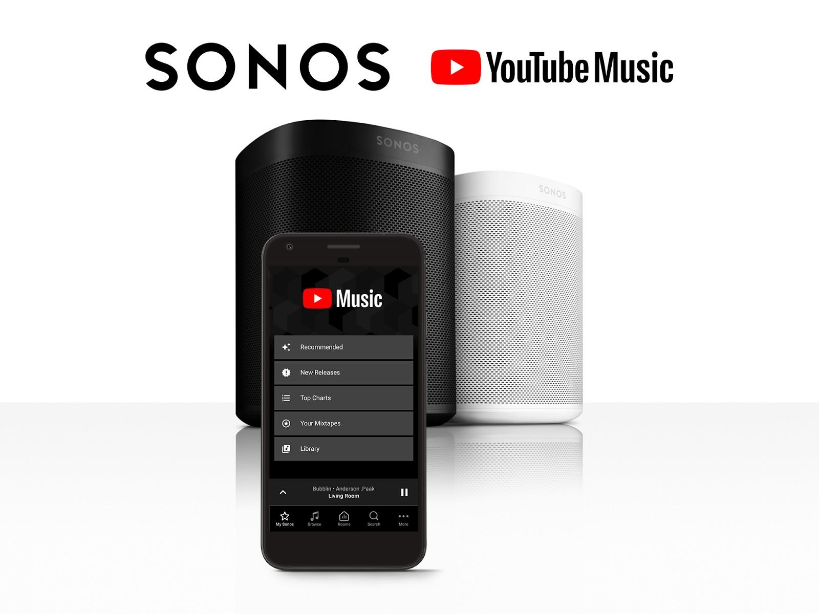 YouTube Music Sonos integration