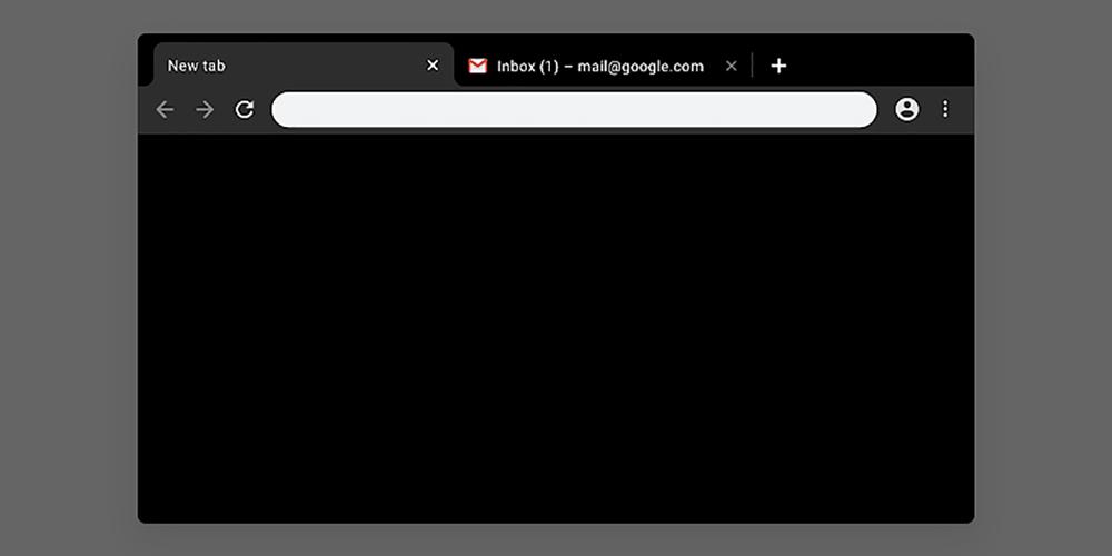 """Die offiziellen Farbthemen von Google für Chrome bieten die Option """"Just Black"""" mit dunklem Modus"""