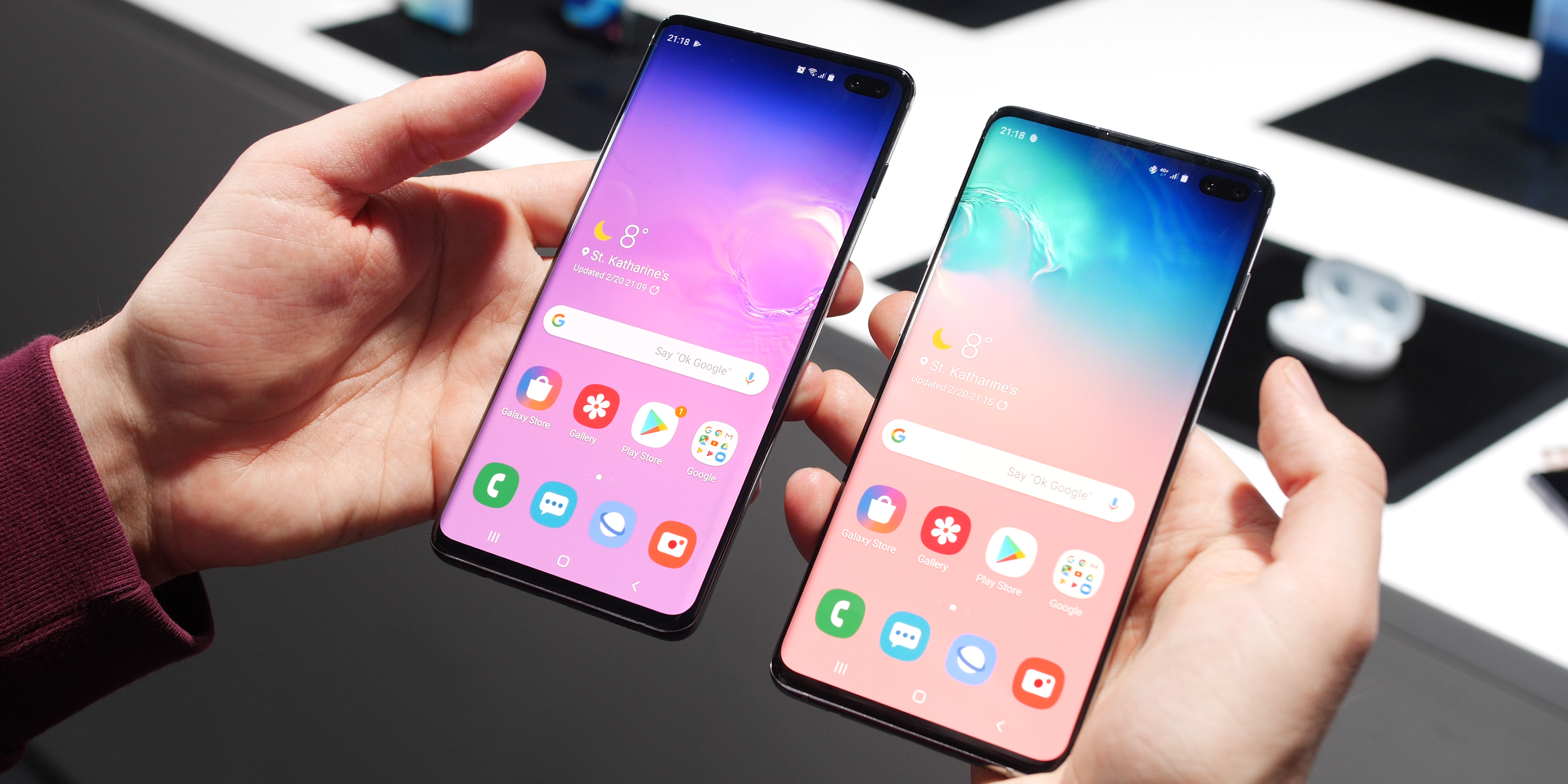 Samsung Galaxy S10 and S10+ design and hardware