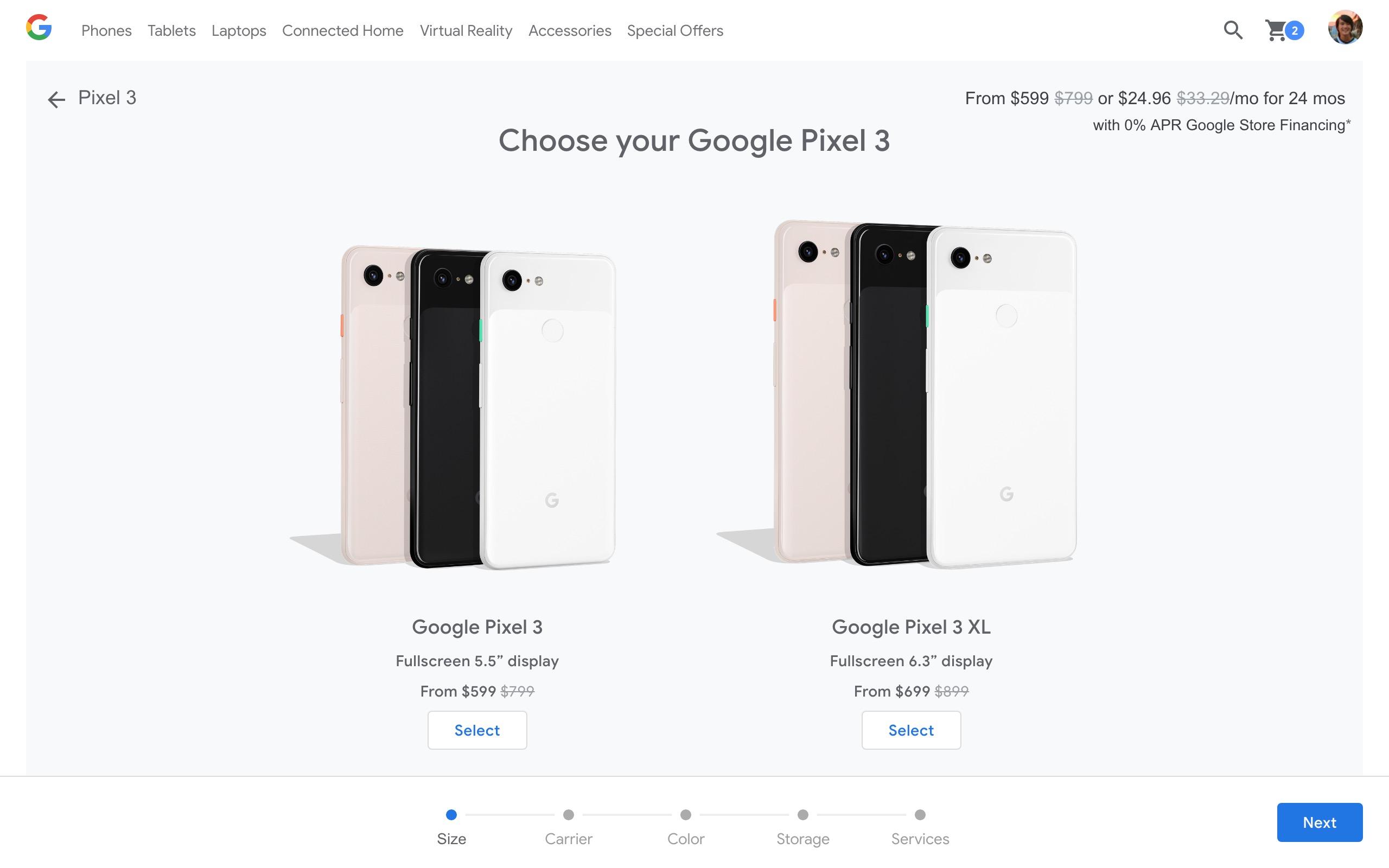 Google Store 200 off Pixel 3