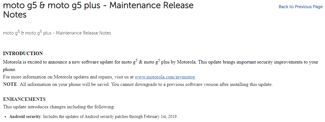 Moto Z3, Moto G5, G5 Plus receiving February security patch
