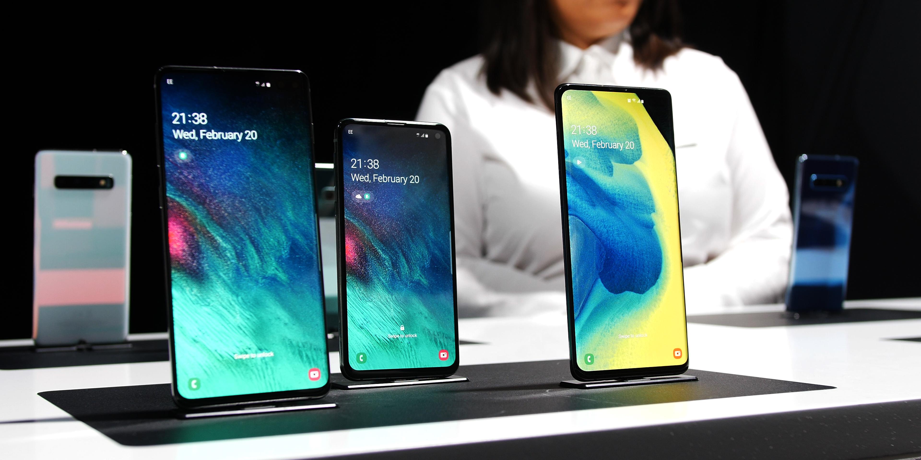 Samsung Galaxy S10 lineup
