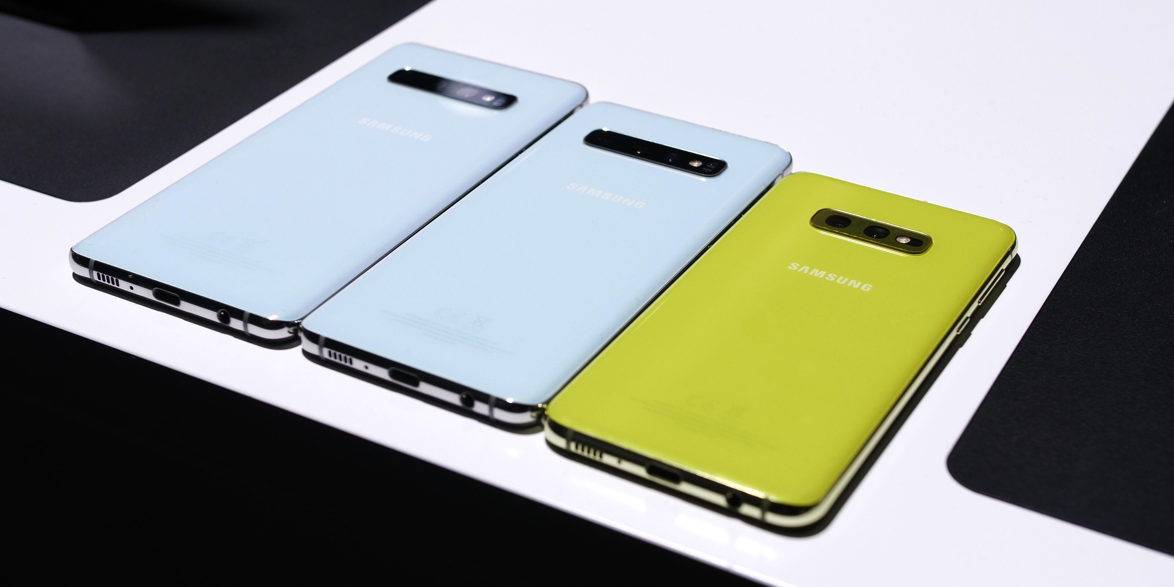 Samsung Galaxy S10e, S10, and S10+