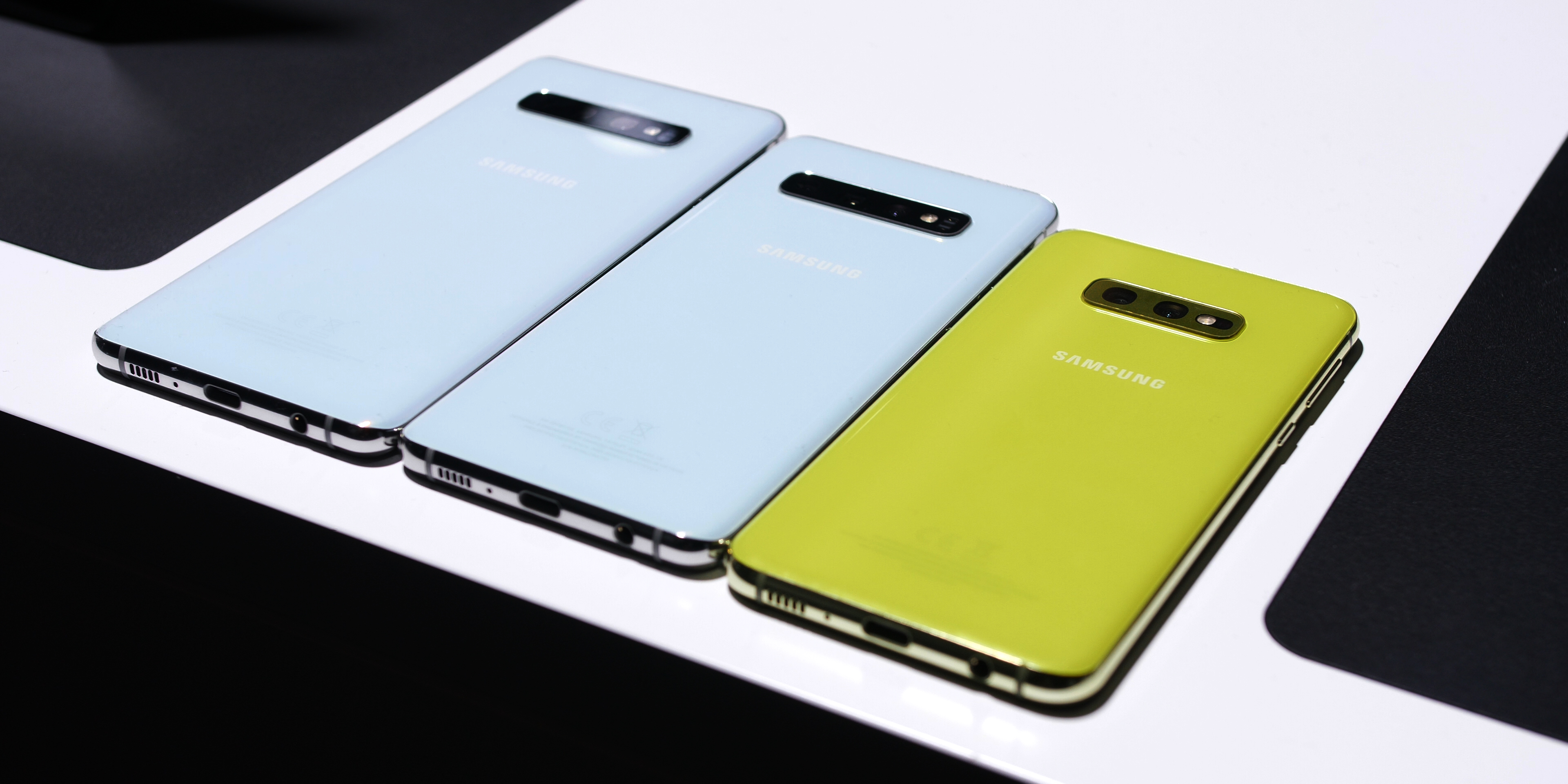 Samsung Galaxy S10e, S10, and S10+