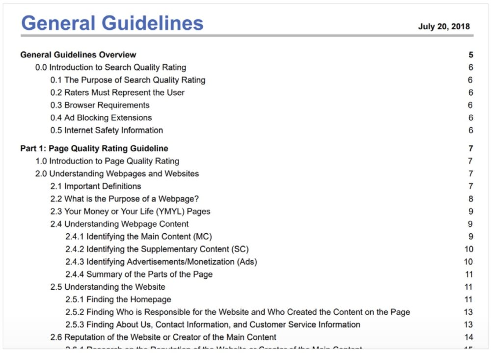 Search Quality Raters Guidelines