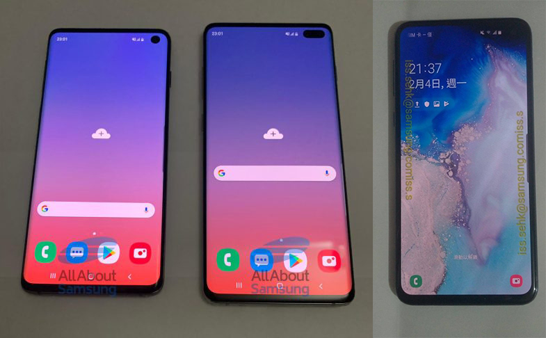 Samsung Galaxy S10, S10+ and S10e