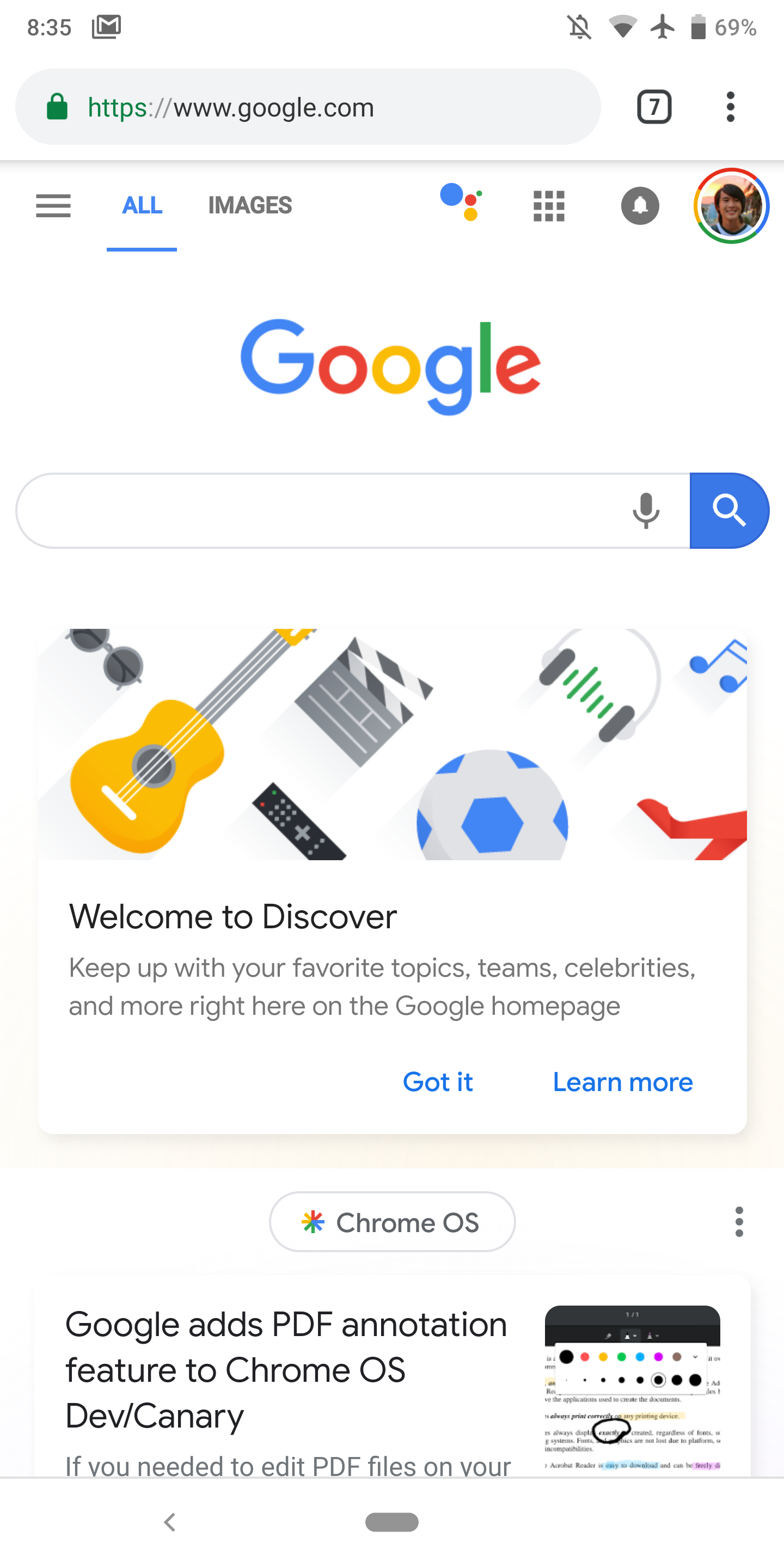 Google Assistant shortcut on mobile Search homepage now more widely