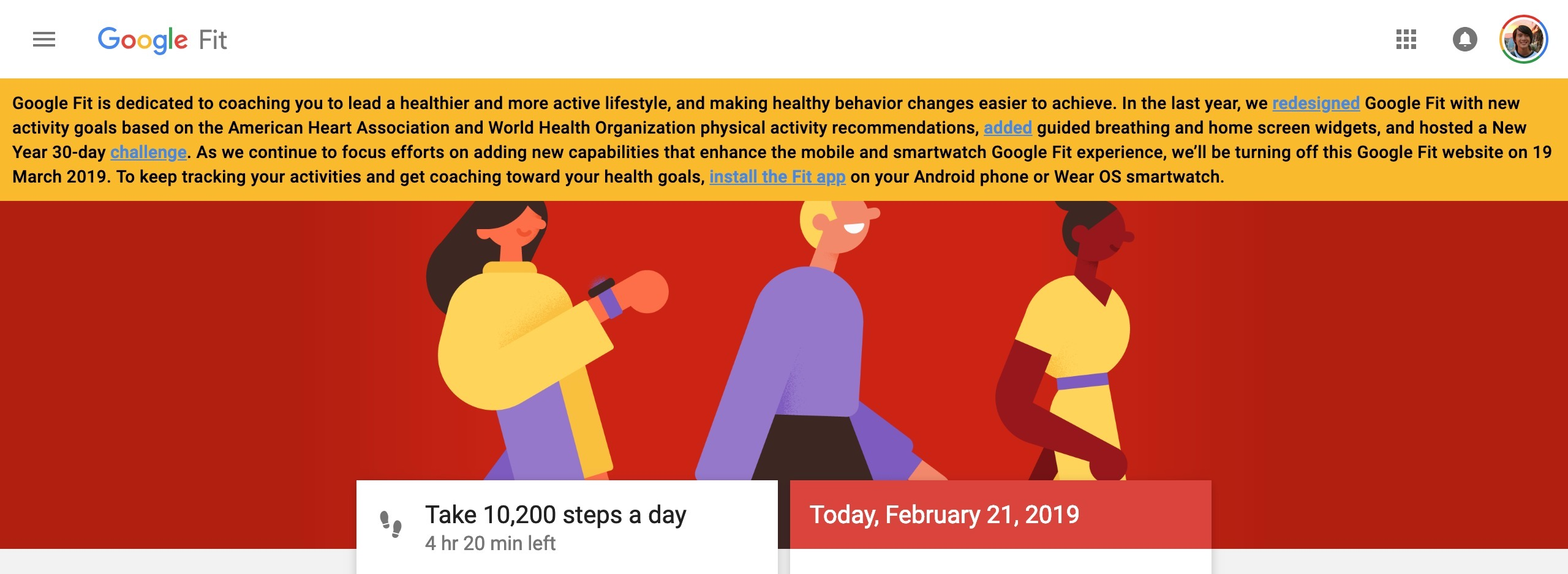 Google shutting down Google Fit on the web, focussing on Android and Wear OS