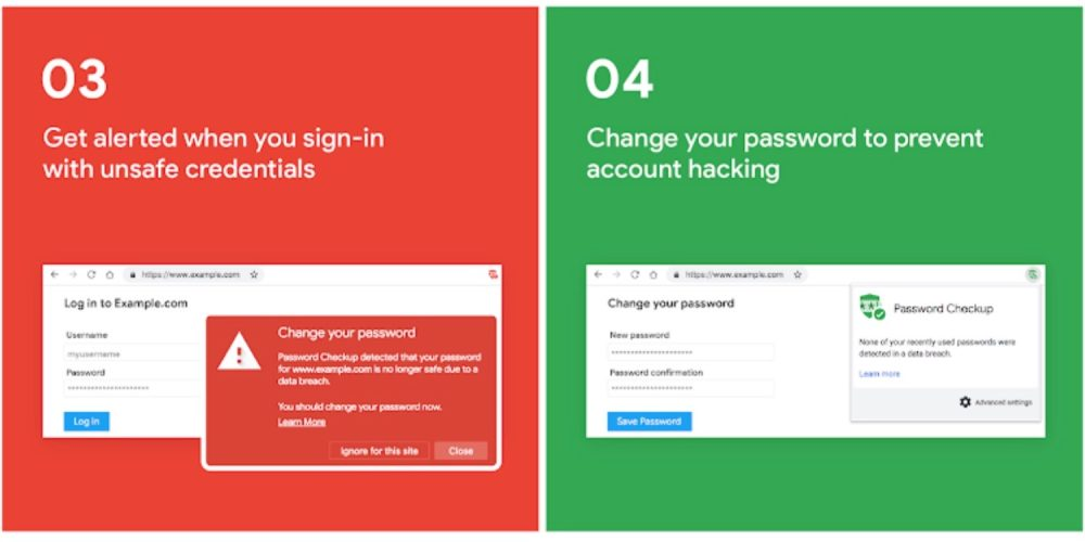Google's Password Checkup Chrome extension warns of breached