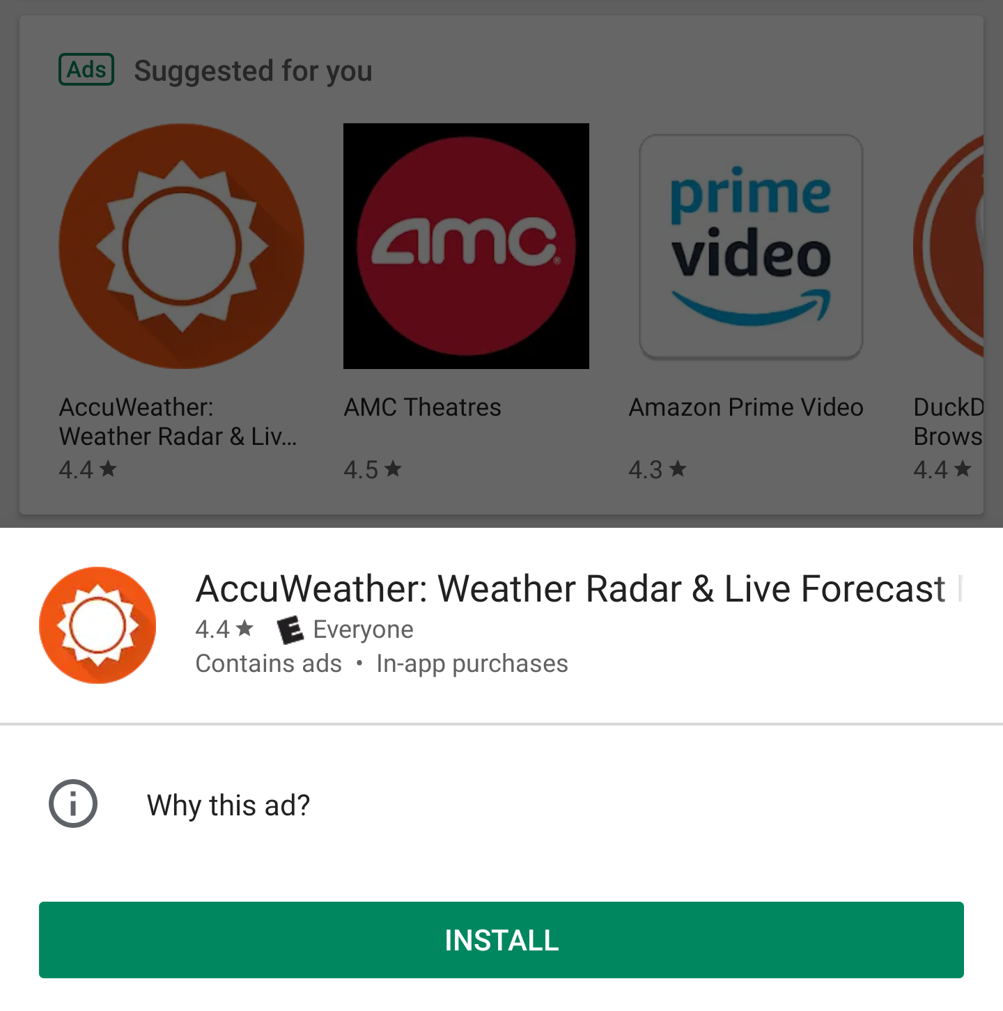 Google Play Store replaces tiny overflow button with 'tap