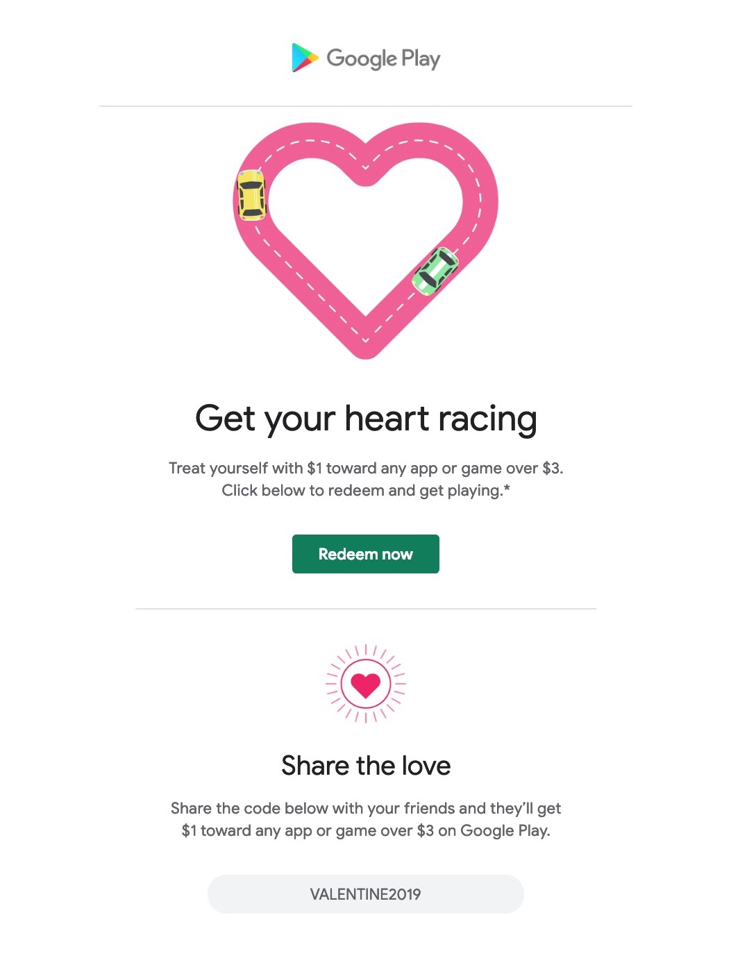 Google Play Store celebrating Valentine's Day promo - 9to5Google