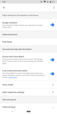 Google begins replacing full 'Voice Match' phone unlock
