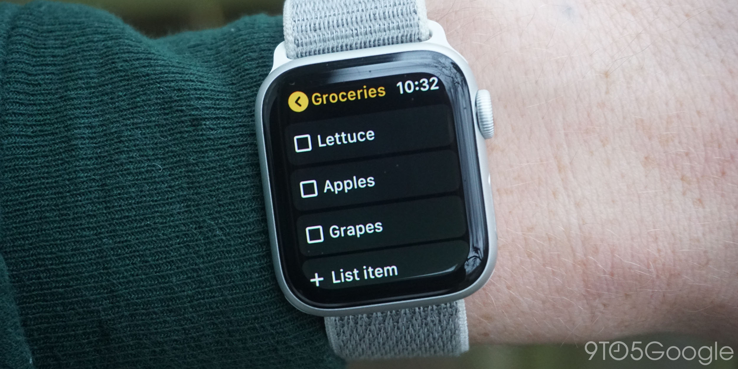 Google Keep for Apple Watch