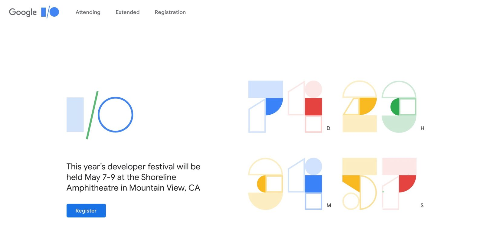 Google I/O 2019 applications now open w/ drawing on Feb 28th