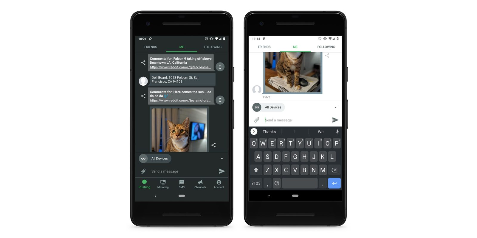 Pushbullet for Android gets dark mode, Material redesign