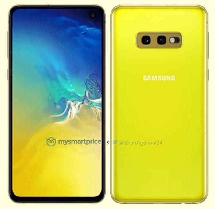 Samsung Galaxy S10e Canary Yellow render