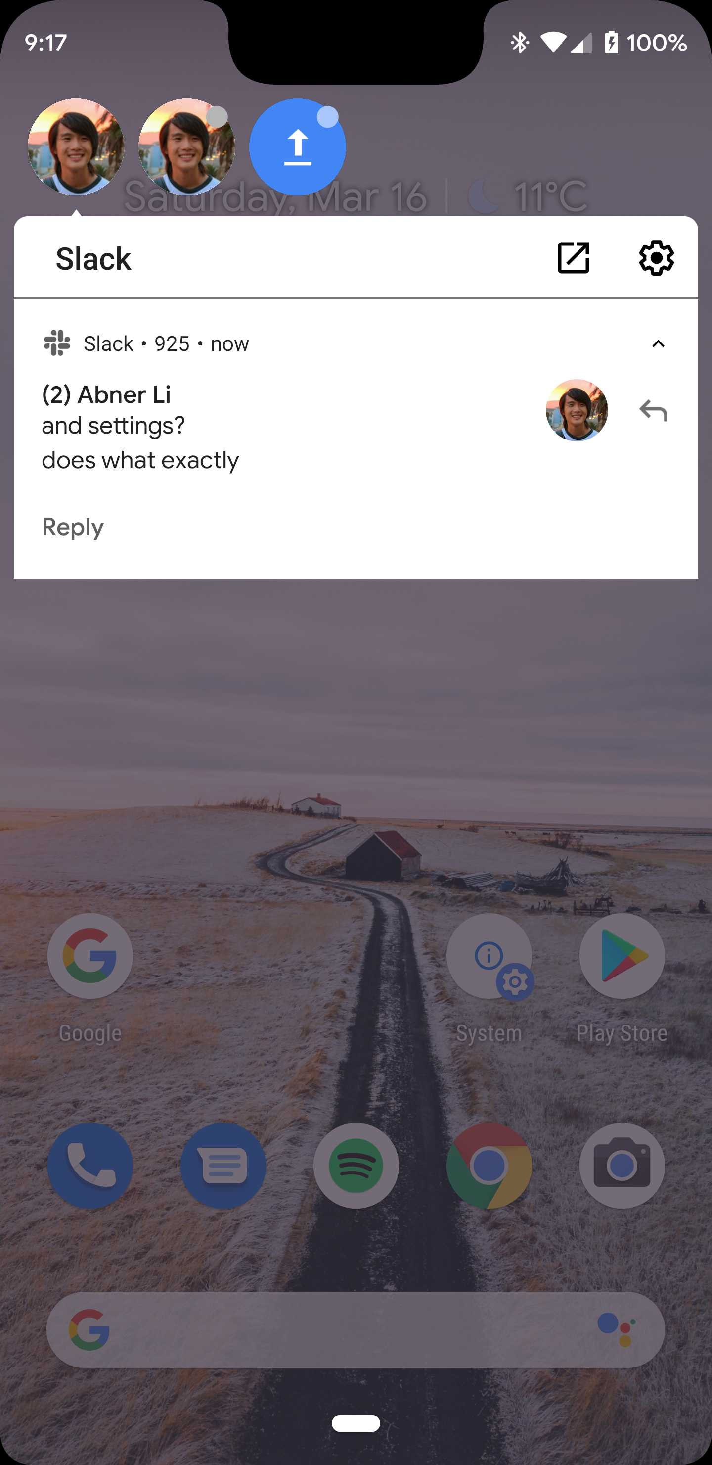 Android Q testing chat head 'bubbles' for notifications
