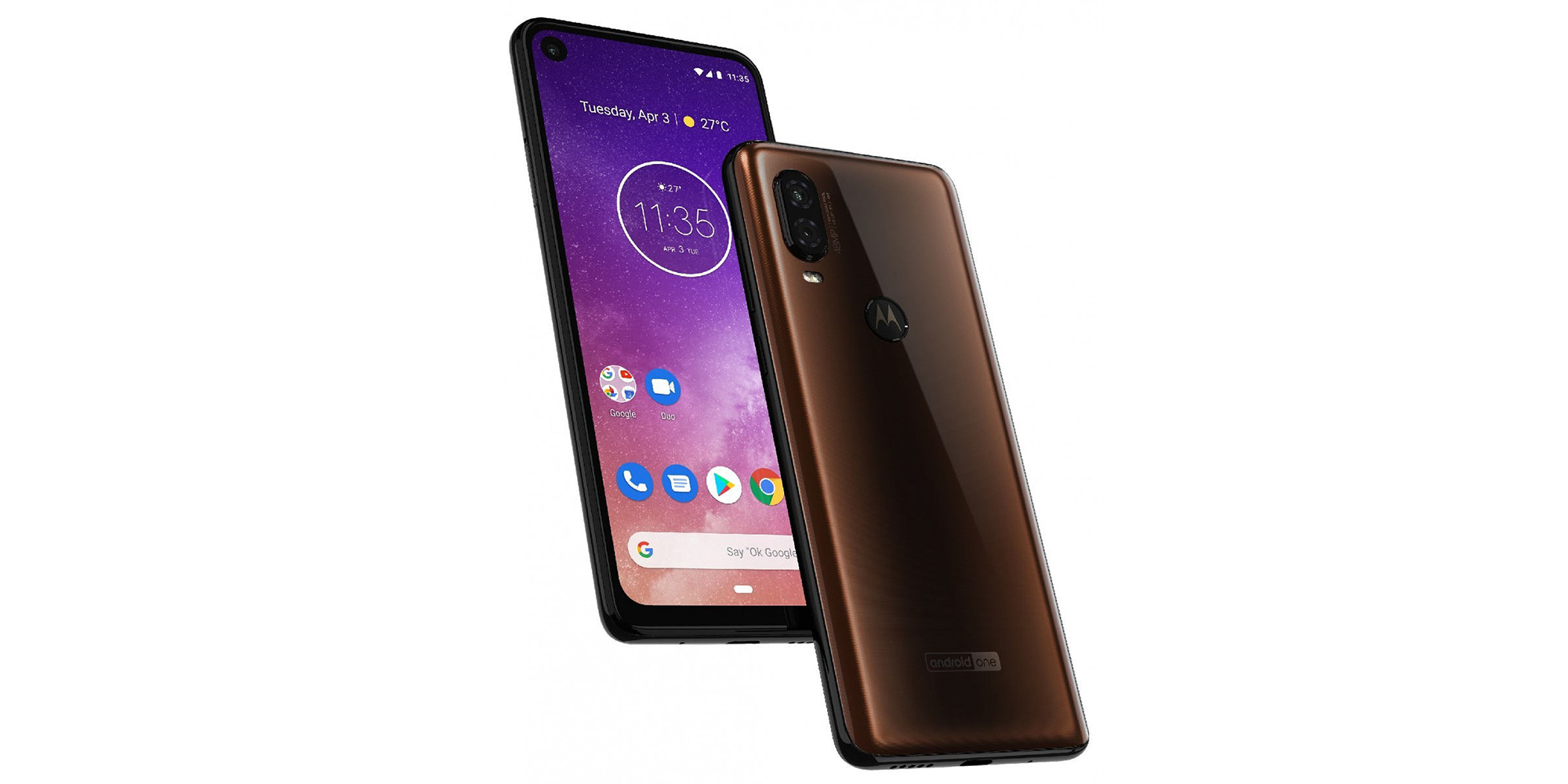 Leaked Motorola One Vision renders confirm punch hole display, 48MP dual rear cameras