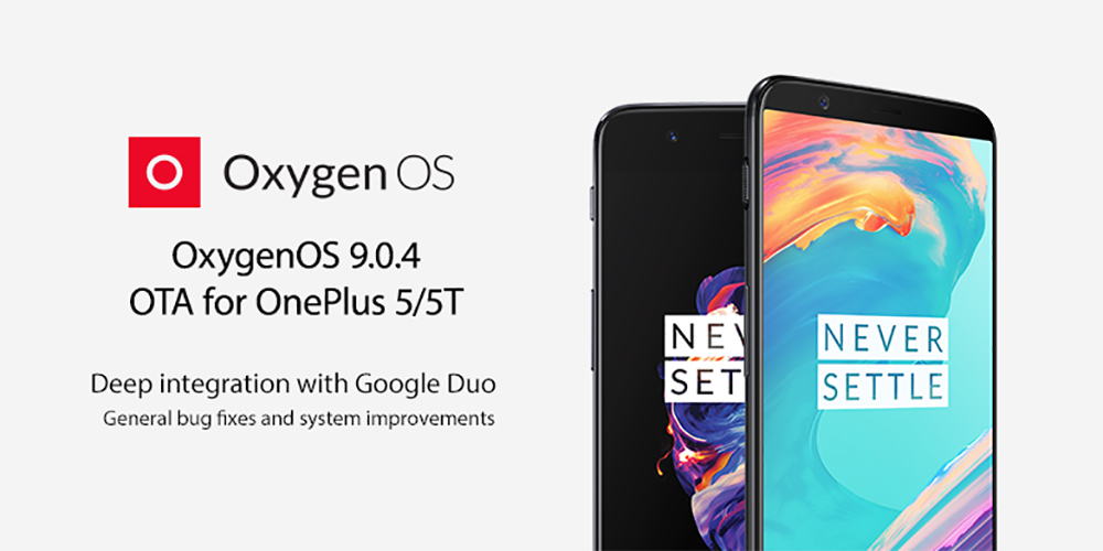 OxygenOS 9.0.4 OTA for OnePlus 5 and OnePlus 5T brings Google Duo integration