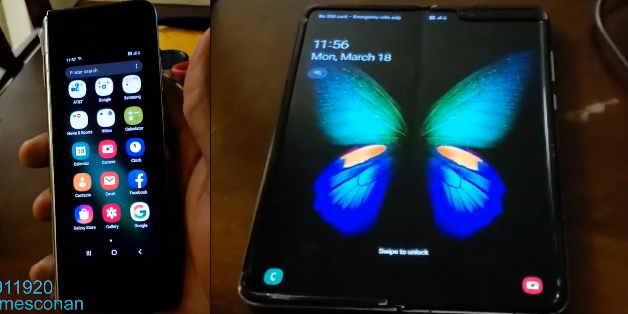 Samsung Galaxy Fold erhält kurze Handgriffe, um Displayknick zu zeigen, scheinbare eSIM-Unterstützung [Video]