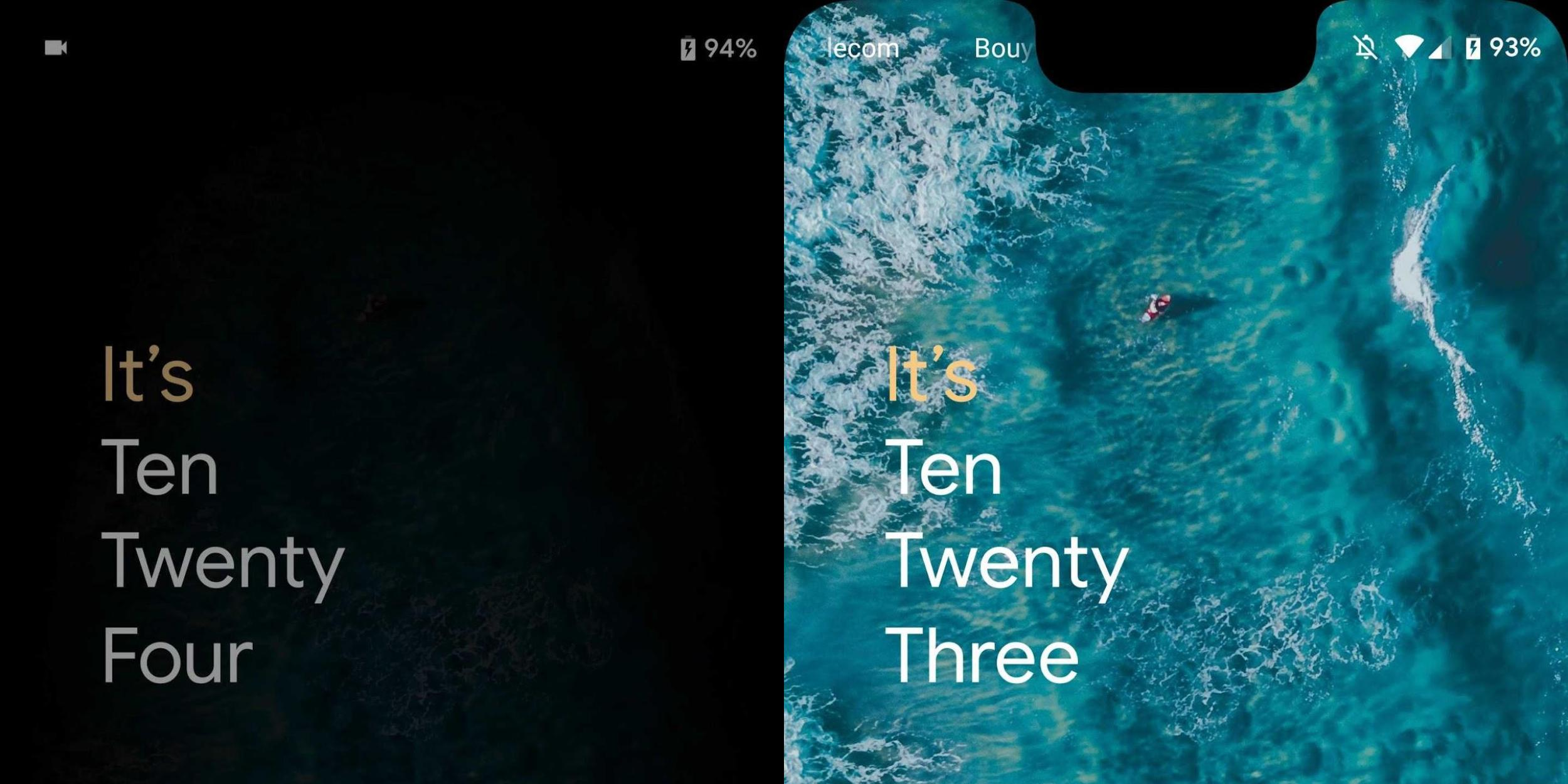 Android Q might let users customize the lock screen & AOD clock [Gallery]