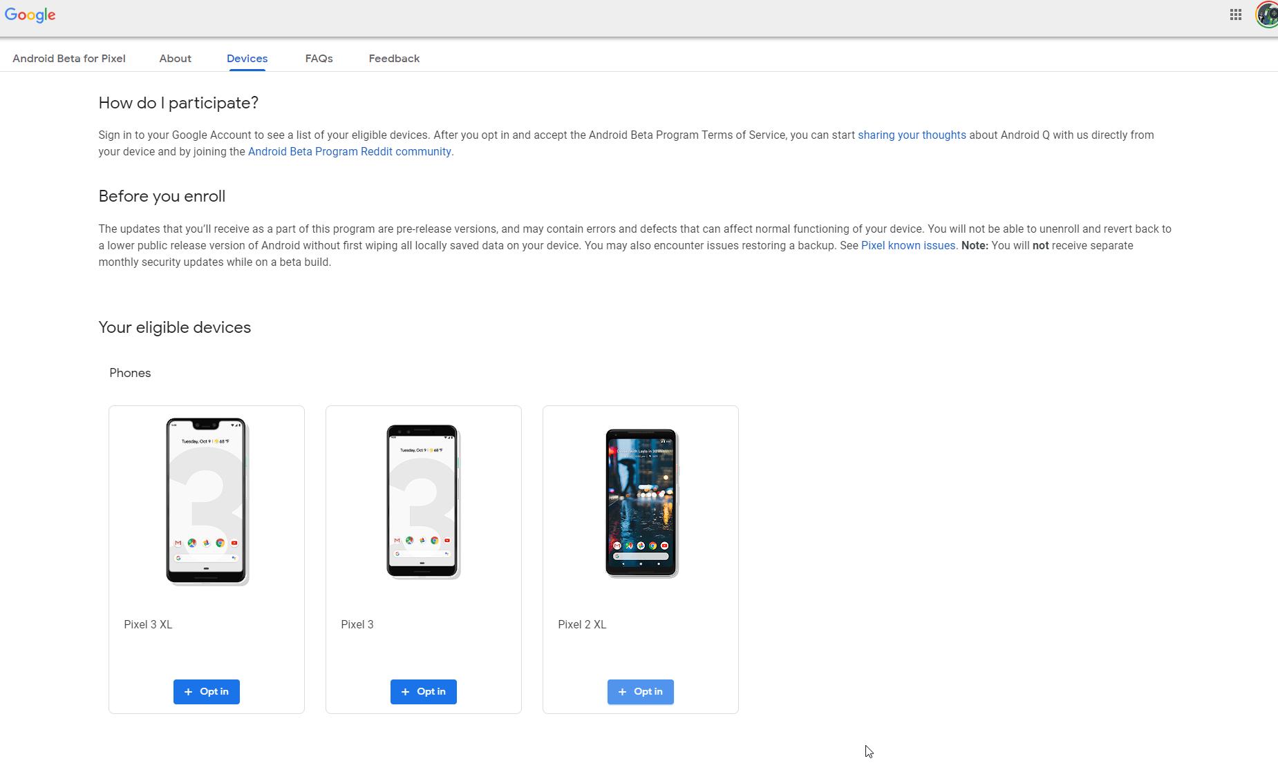 So melden Sie sich beim Beta-Programm für Android Q für OTA-Updates bei Google Pixel an