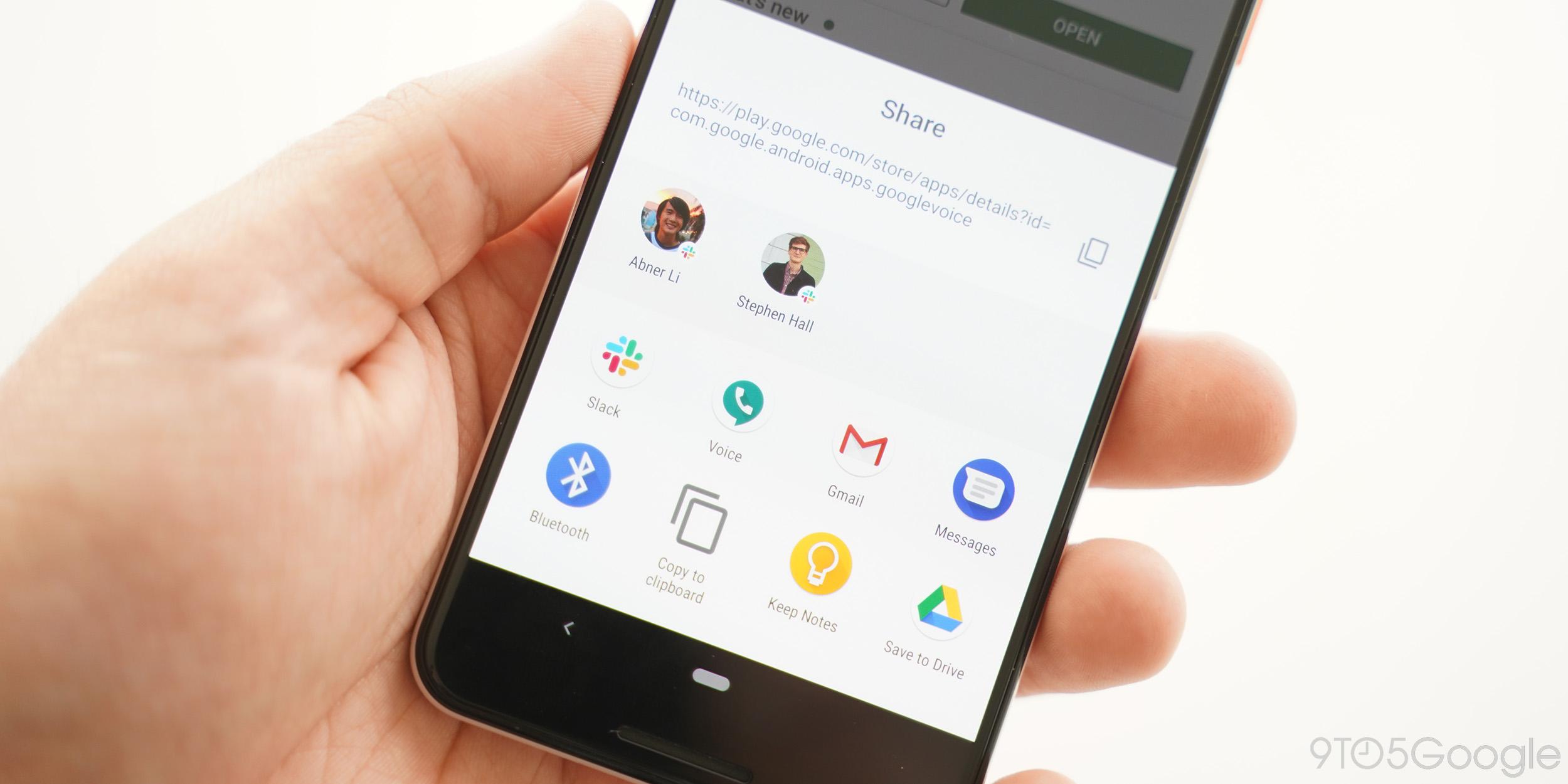 """Android Q Beta 1: Das Freigabemenü wird jetzt schneller mit """"Freigabekombinationen"""" geladen"""