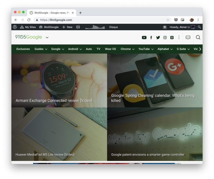 Chrome 73 rolling out w/ Mac Dark Mode support - 9to5Google