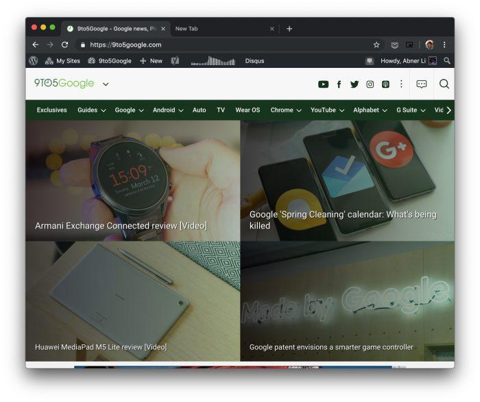 Chrome 73 dark mode