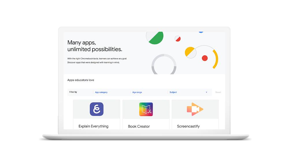 Chromebook App Hub classrooms