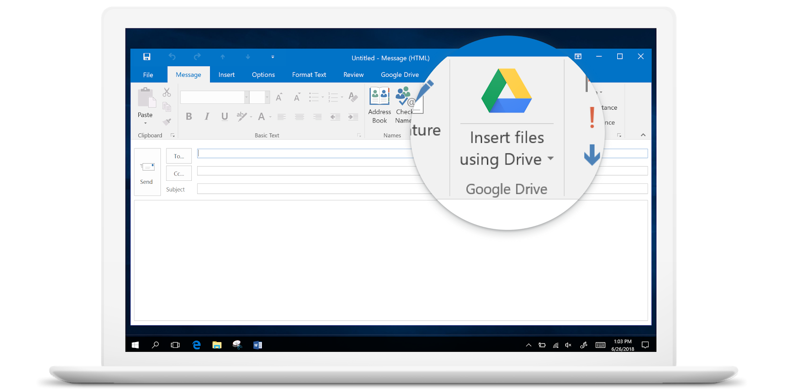 Drive File Stream Office integration
