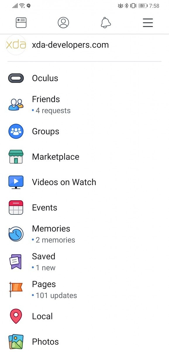 Facebook for Android tests all-white app redesign - 9to5Google