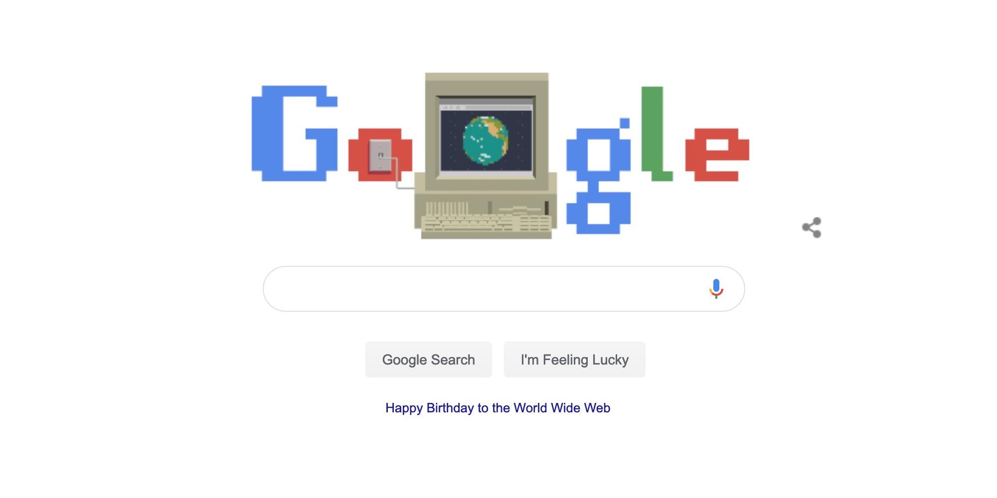 Google Doodle feiert 30-jähriges Bestehen des World Wide Web