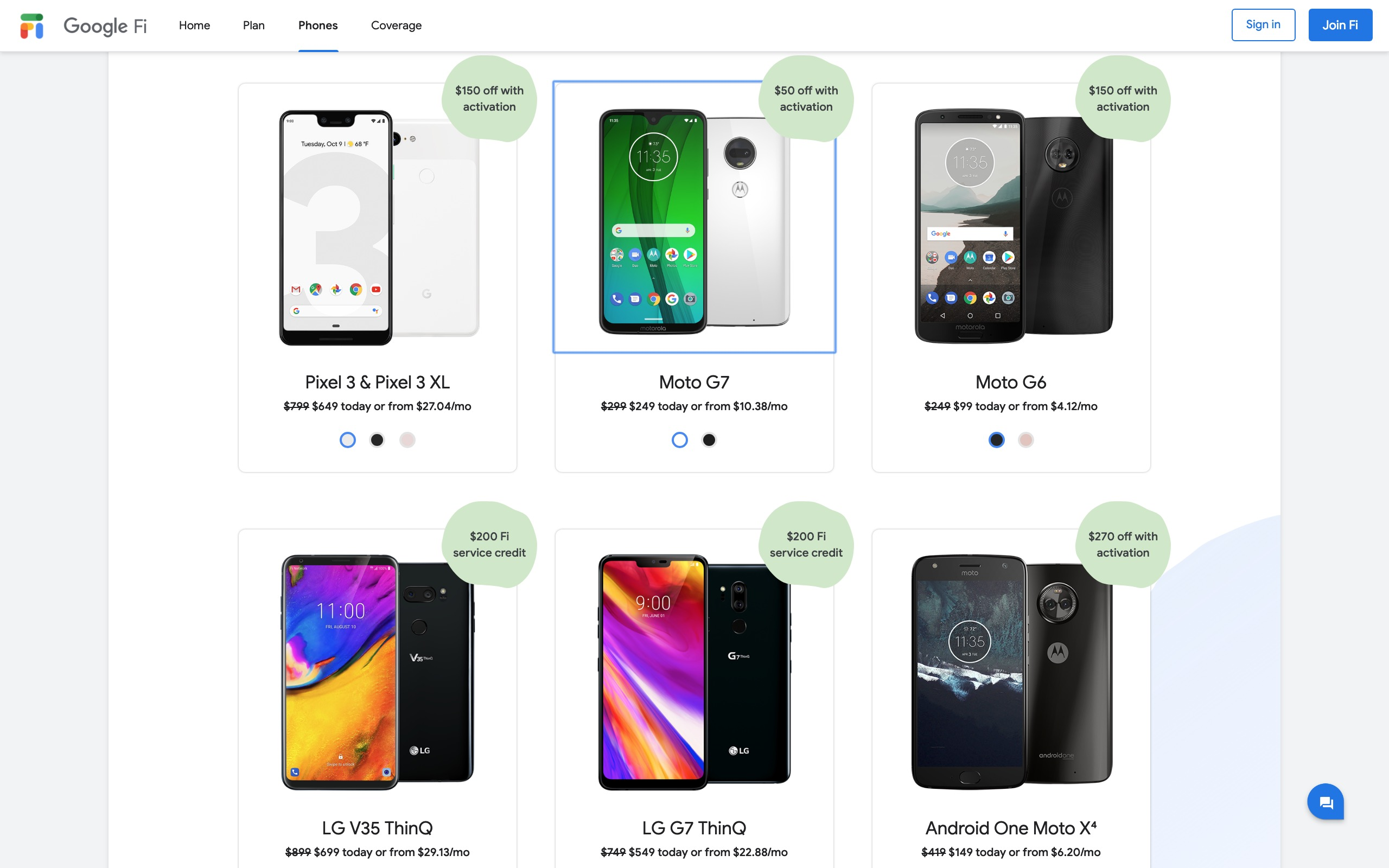 Google Fi Store March 19