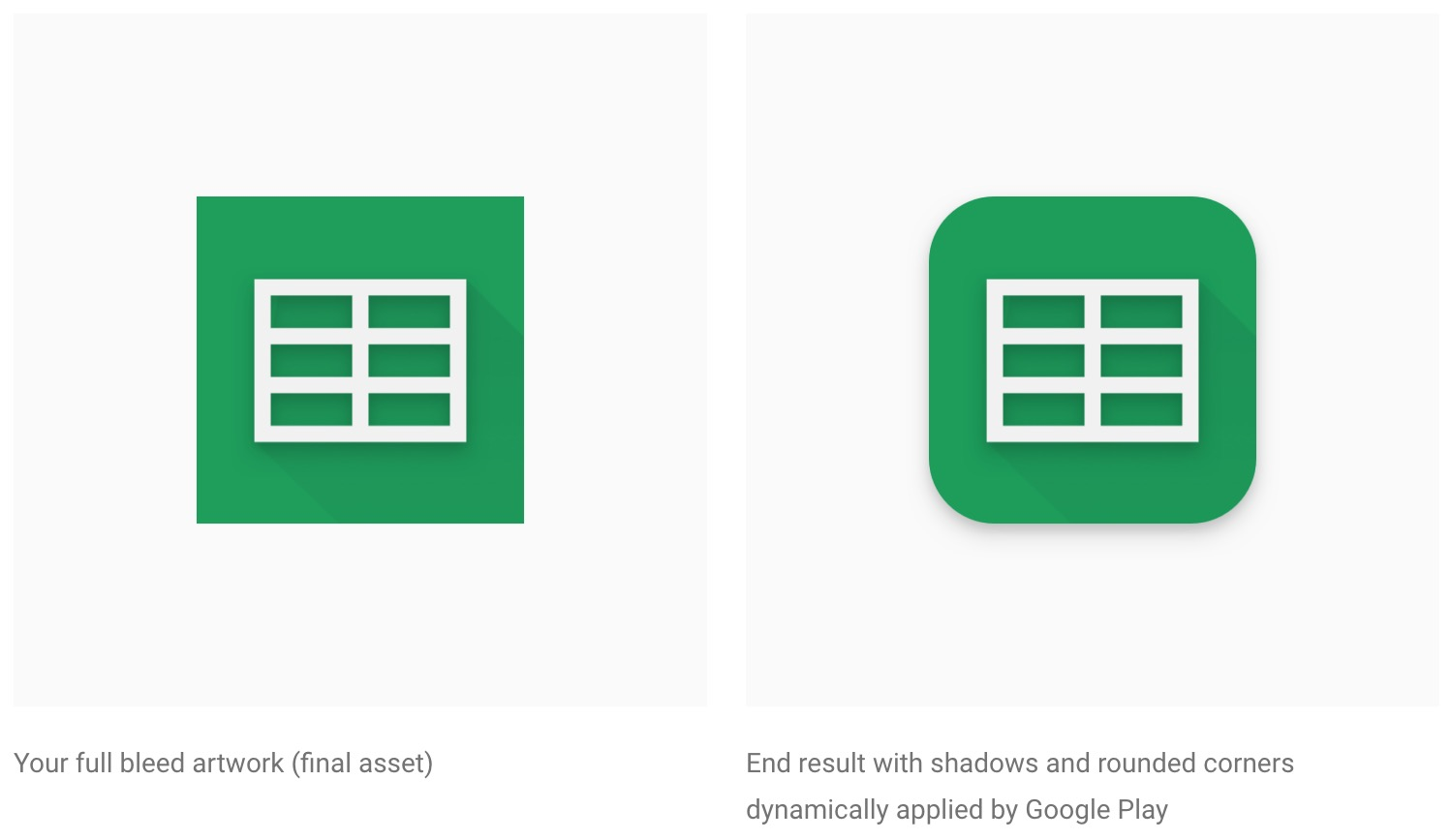 Google Play Store squircle icons