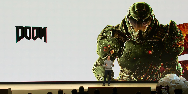 """Google Stadia verspricht """"Doom: Eternal"""", neckt """"NBA 2K19"""", """"Tomb Raider"""", mehr an der GDC"""