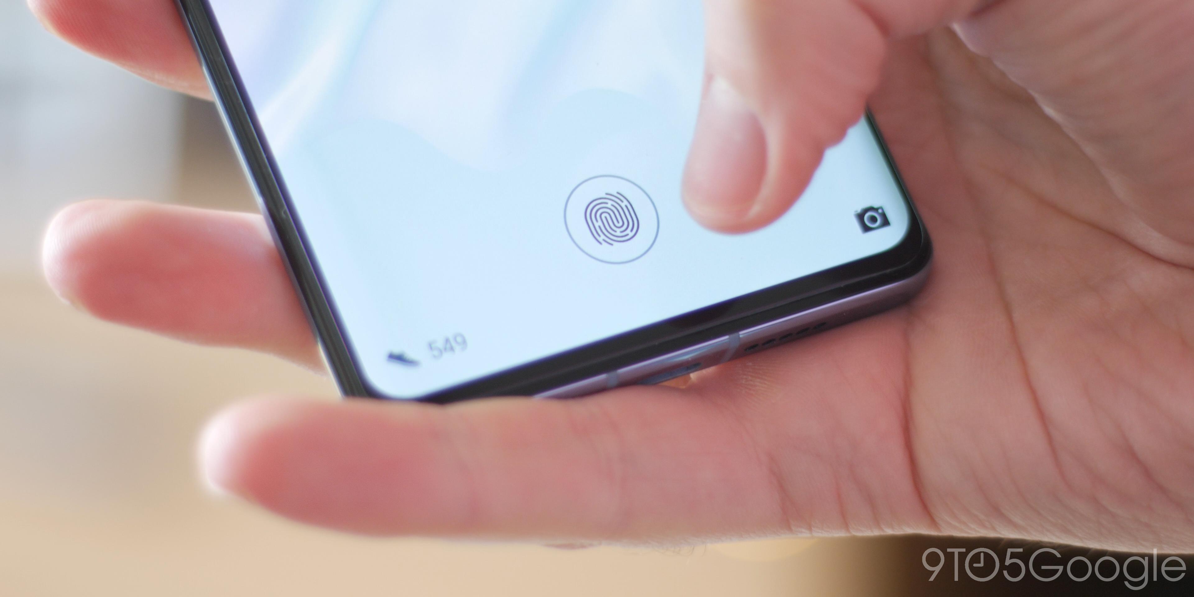 Huawei P30 Pro fingeprint reader