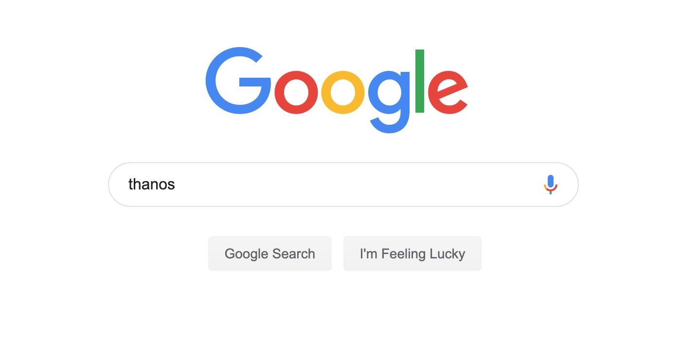 Google adds Thanos Easter Egg for Avengers: Endgame - 9to5Google