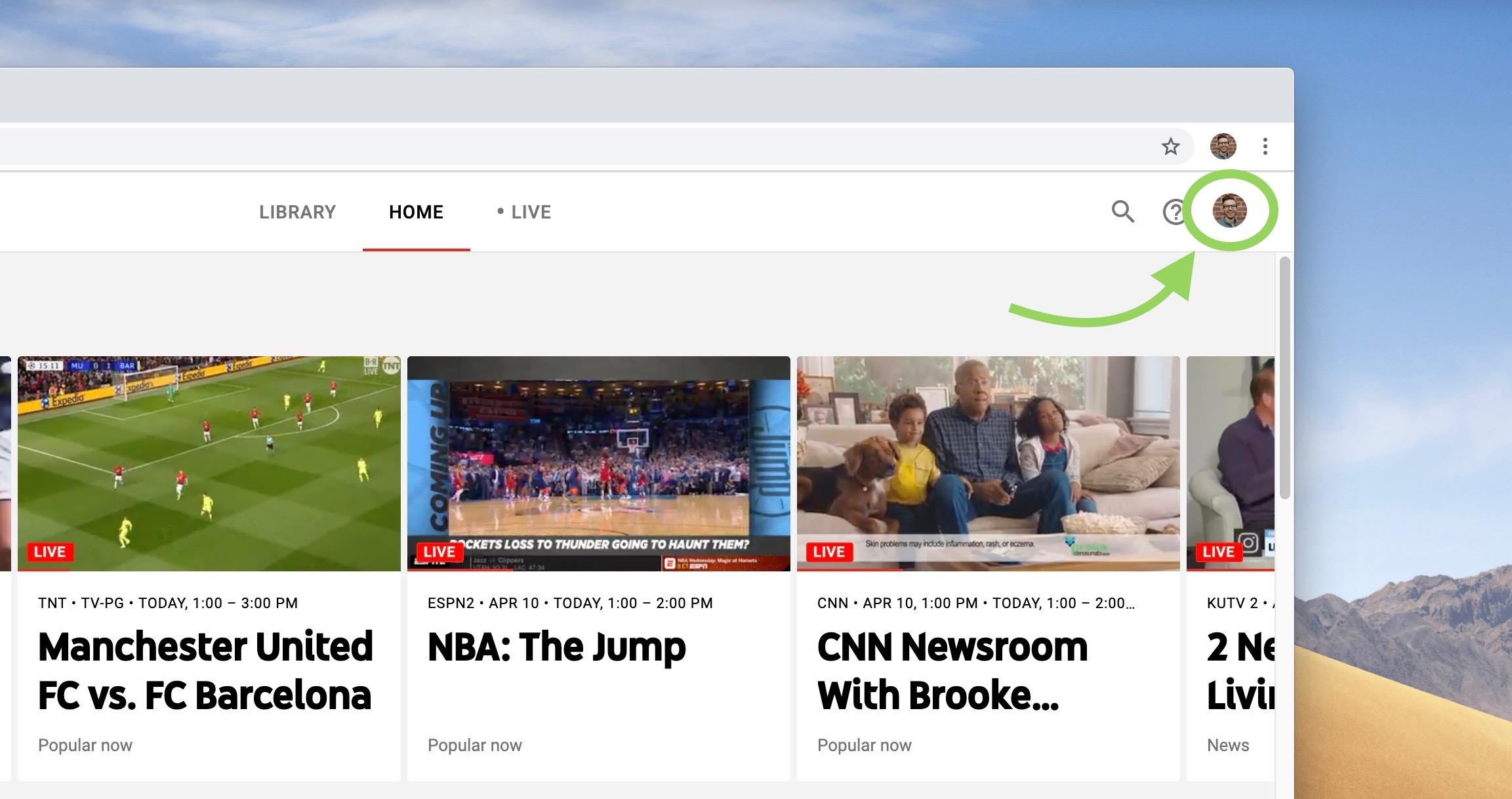 cancel YouTube TV walkthrough