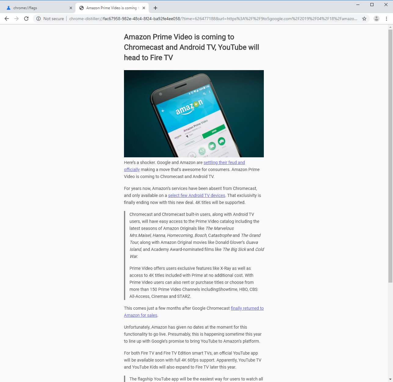 Here's what Google Chrome's Reader Mode looks like - 9to5Google