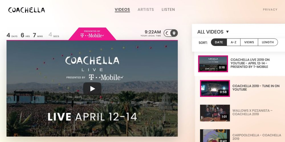 Youtube Streaming Coachella 2019 W Live Youtube Music Integration 9to5google