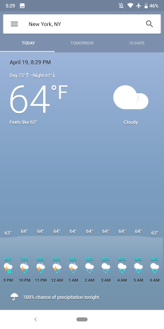 Google app 9 72 breaks weather app, adds newest/oldest Podcasts