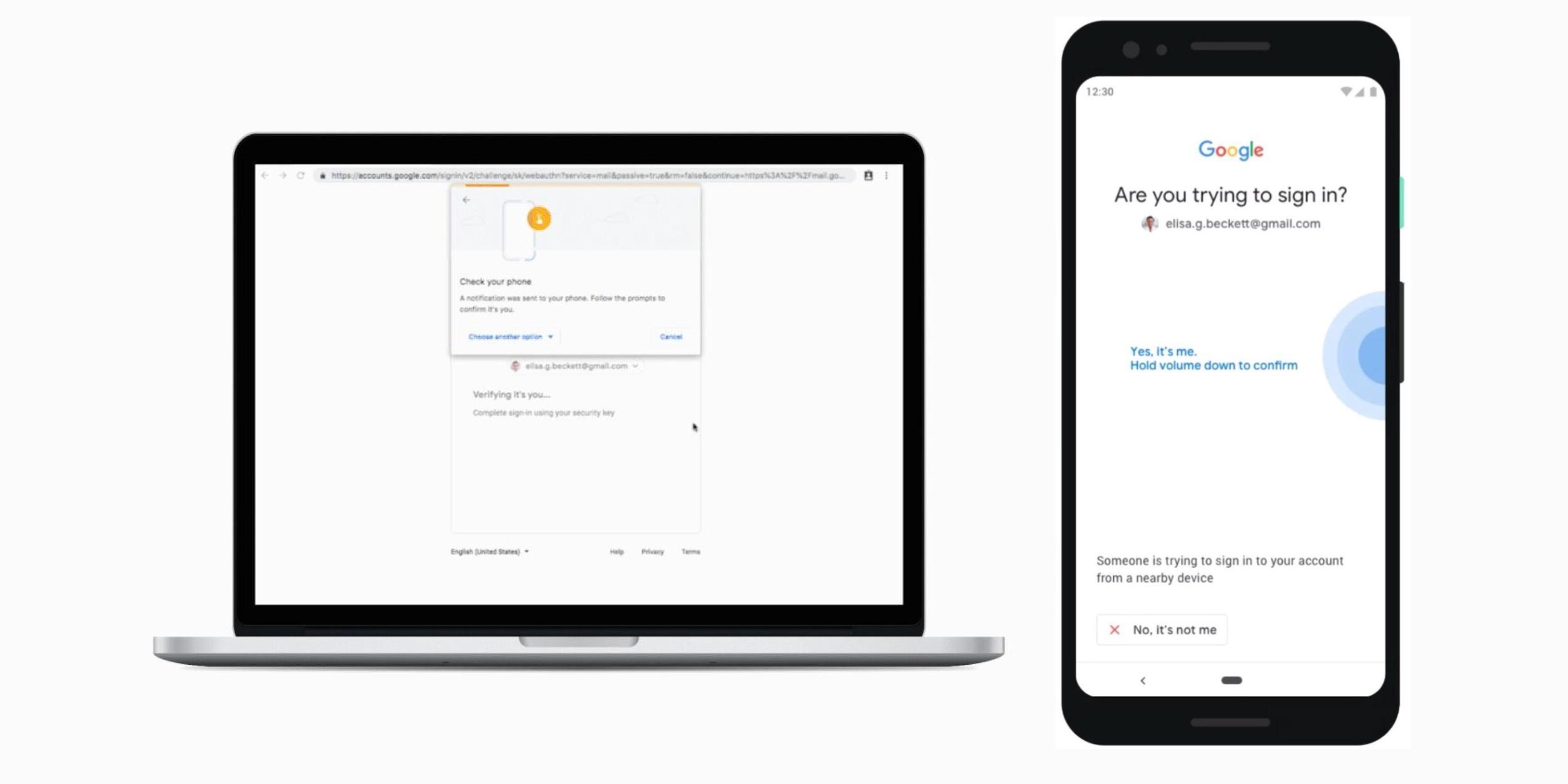 Google Phone Security Keys