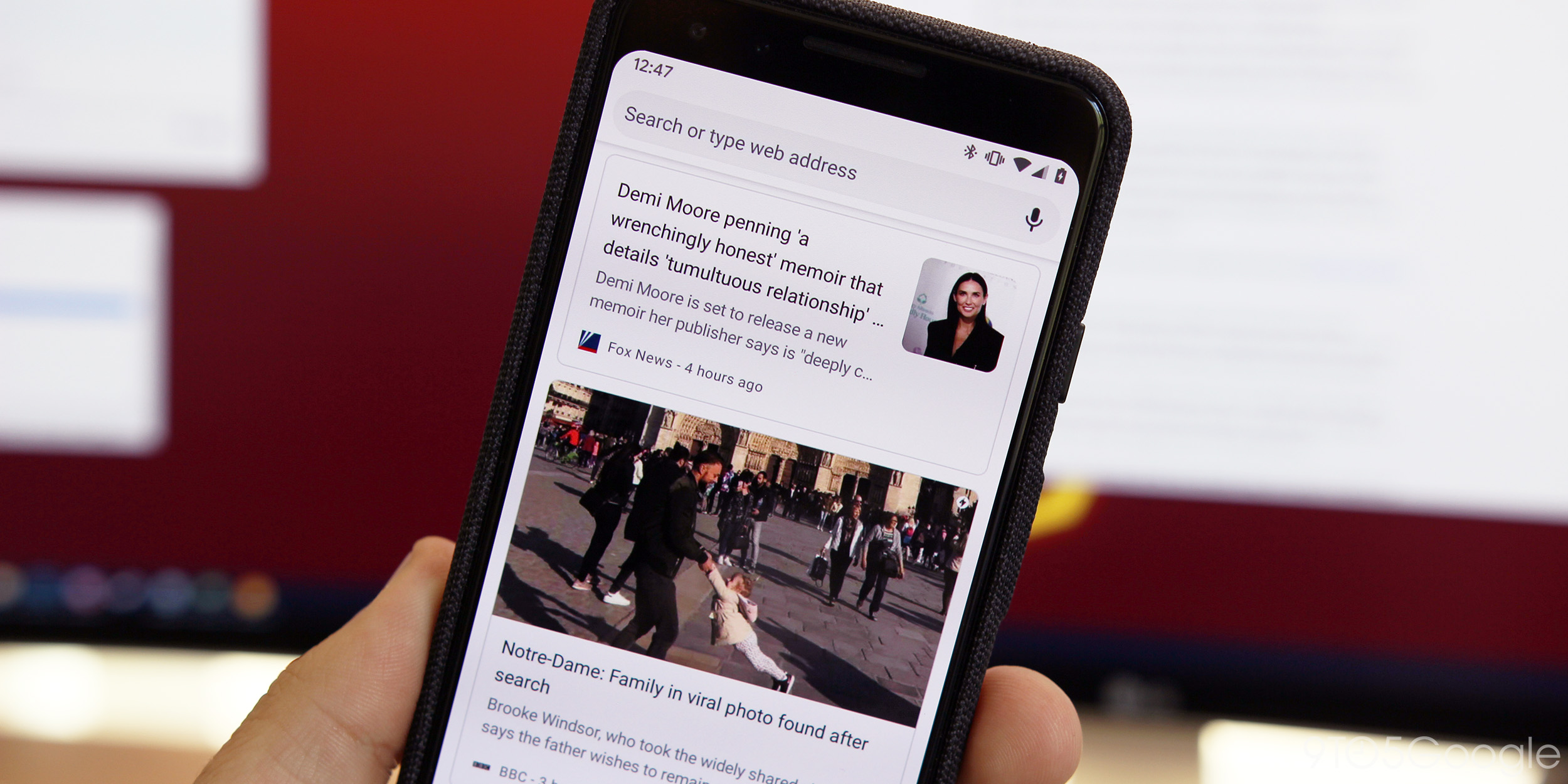 Chrome for Android testing snippets in New Tab Page 'Articles for you' [Gallery]