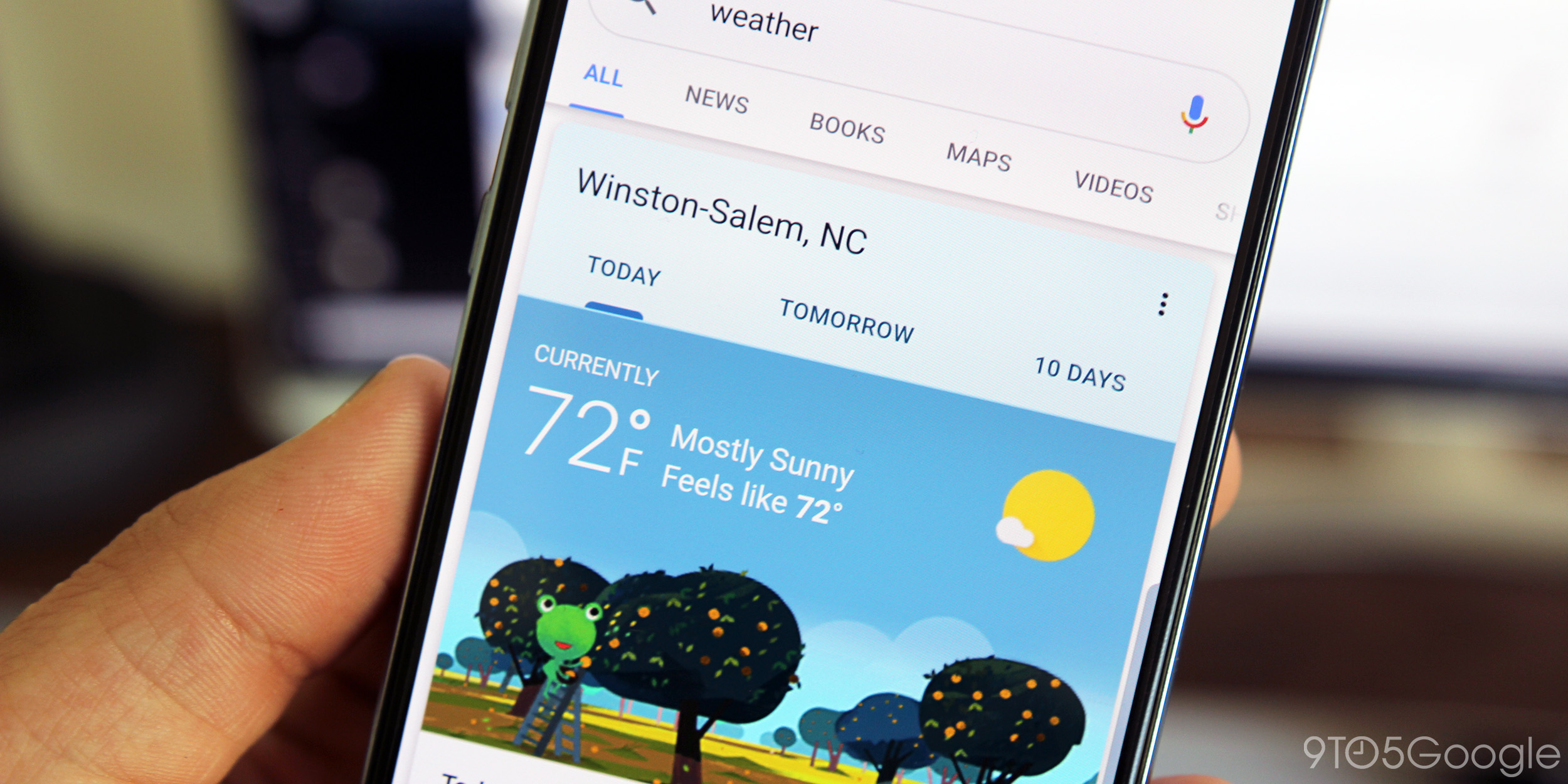 Google Weather festively rings in the New Year [Gallery]