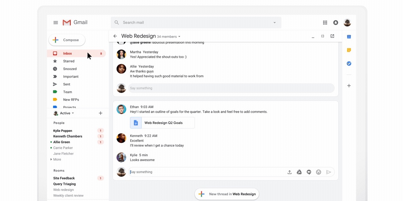 Hangouts Chat coming to Gmail as Hangouts Meet adds live