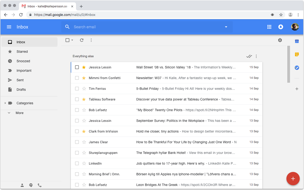 inbox gmail chrome