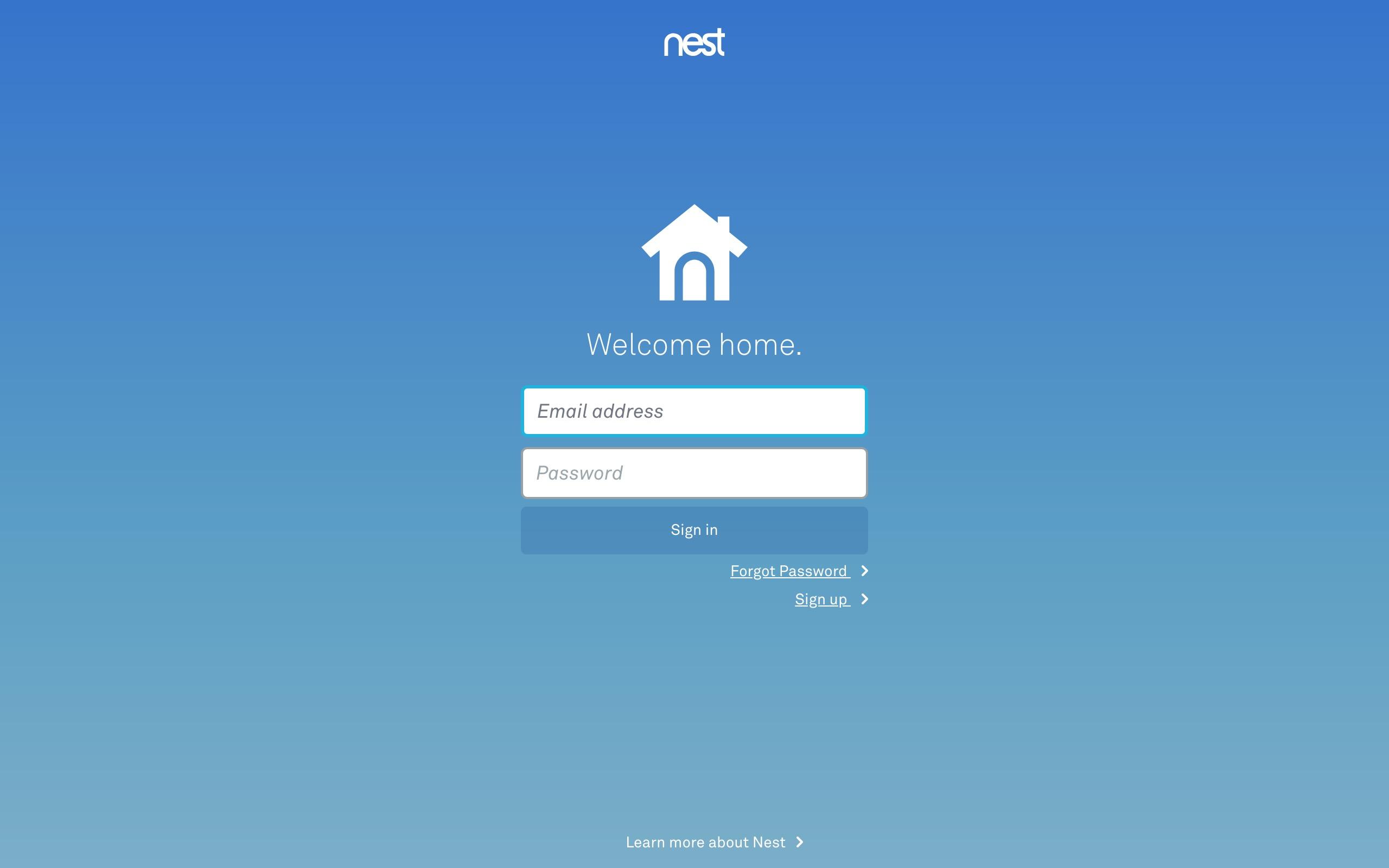 Nest Google login securiy