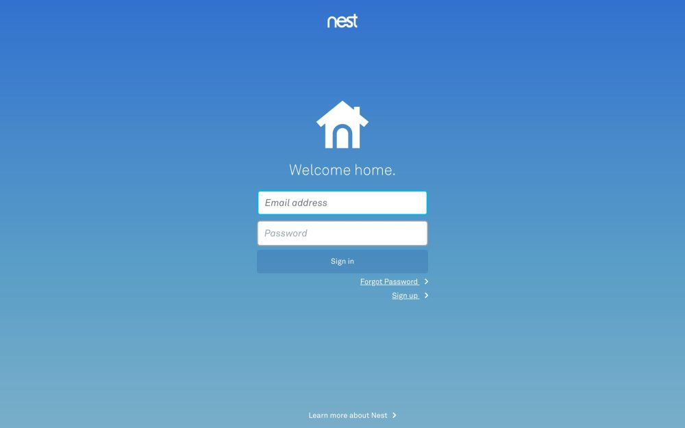 Nest Google login securiy